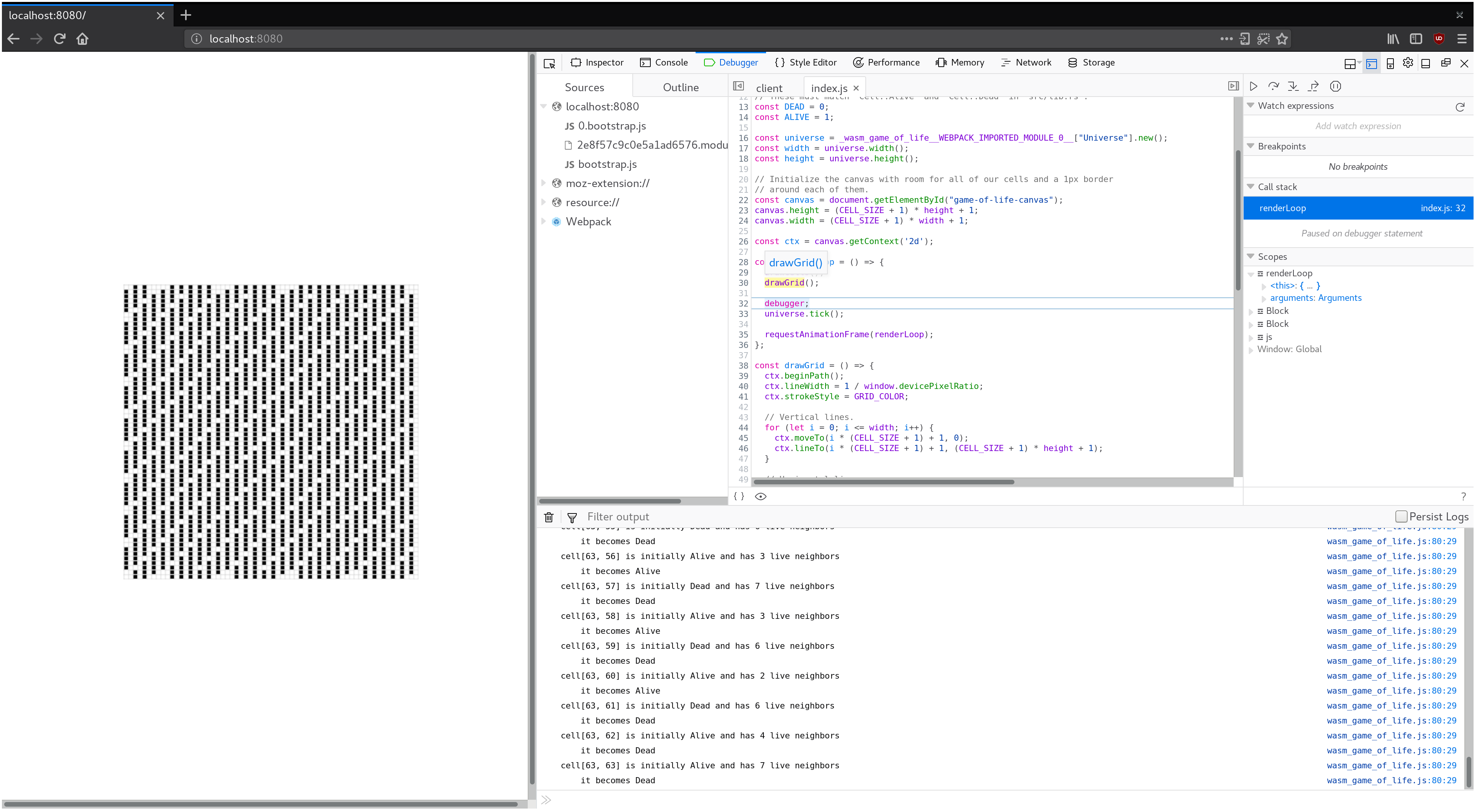 Debugging - Rust and WebAssembly